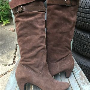 Sam Edelman Tall Chicolate Brown Leather Boots 10M